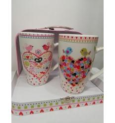 """Malette de 2 mugs """"Love"""""""