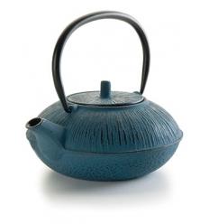 Théière en fonte artisanale 1.1 l bleue