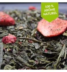 Thé vert fraise basilic sichuan